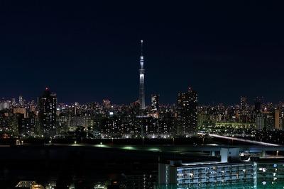 東京スカイツリー白色のライティング