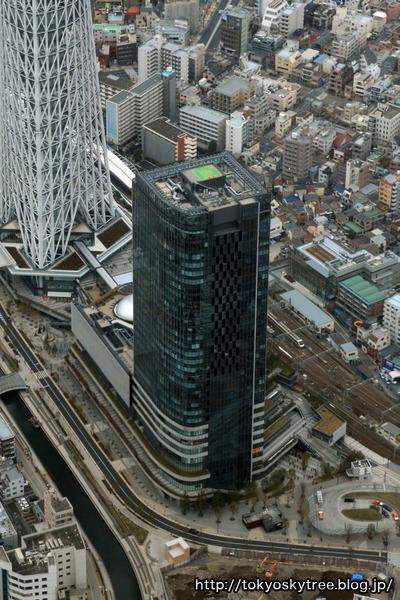 東京スカイツリーイーストタワーの空撮