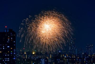 江東区民祭り亀戸地区夏まつり大会の花火