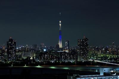東京スカイツリー七夕特別ライティング「夜空」
