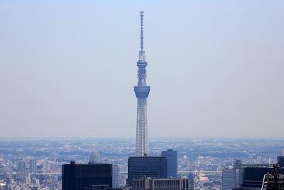 六本木ヒルズから見た東京スカイツリー