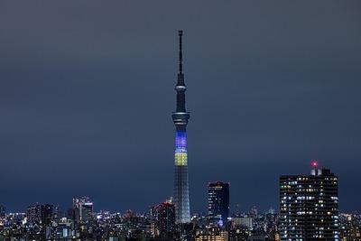 東京スカイツリー 試験点灯