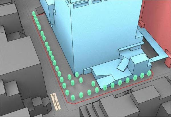 浜松町二丁目地区第一種市街地再開発事業 解析モデル(防風対策)