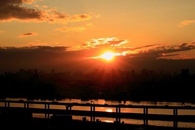 本日の東京夕景