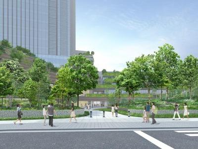 四谷駅前再開発事業 北側からのイメージ