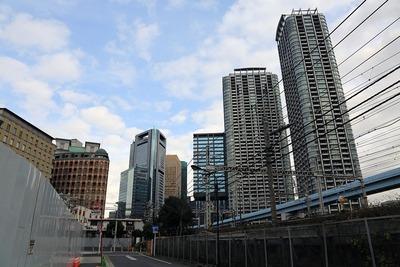 汐留の超高層ビル群