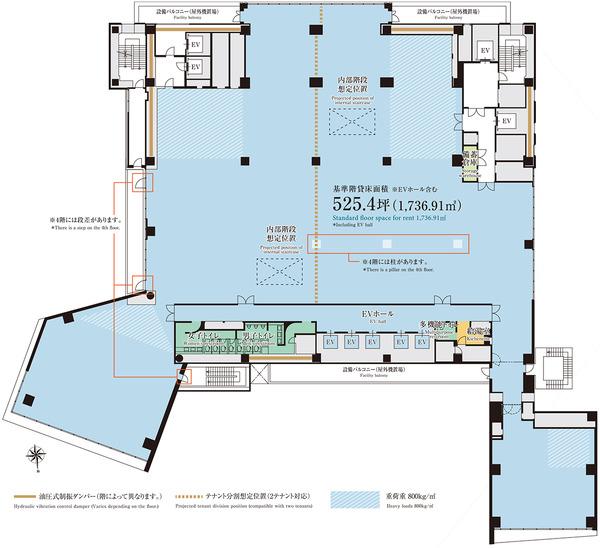 (仮称)渋谷区道玄坂二丁目開発計画 5階平面図