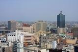 富山市役所展望塔からの眺め