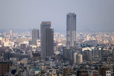 クラウンプラザ神戸から御影タワーレジデンス方面