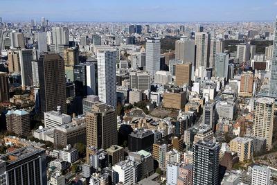 虎ノ門方面の超高層ビル群