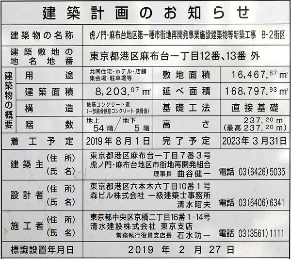 虎ノ門・麻布台プロジェクト 東棟(B-2街区) 建築計画のお知らせ