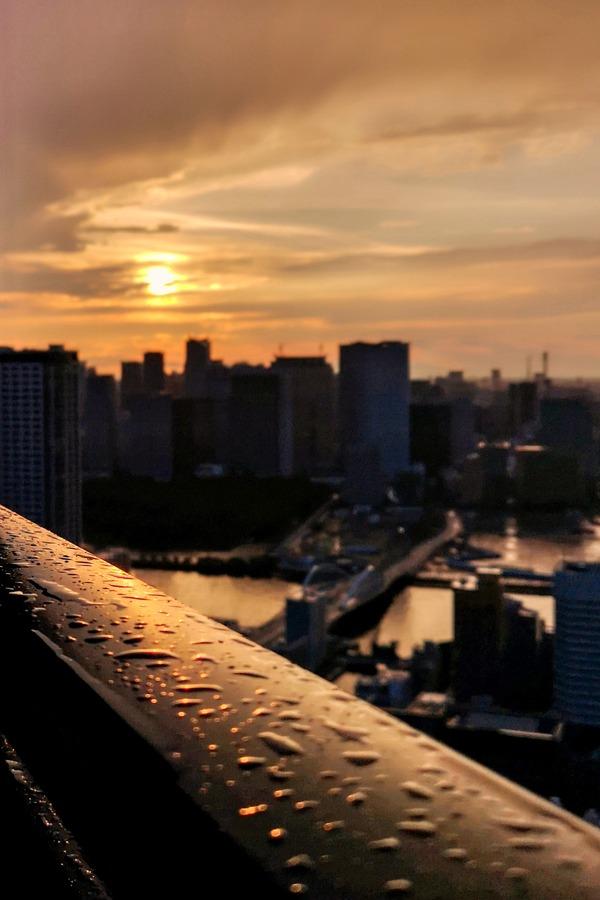 ドゥ・トゥールの高層階から見た夕焼け