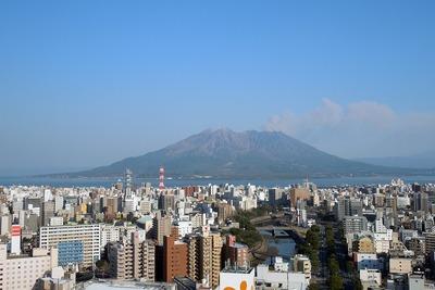 アミュランから見た桜島