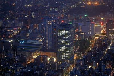東京スカイツリーの天望回廊から見た錦糸町のオリナス