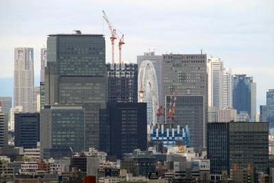 船堀駅前トキタワーから見た大手町の超高層ビル群