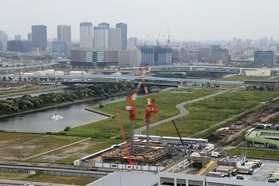 東京オリンピックの有明の競技場施設建設予定地