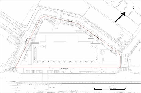 渋谷二丁目17地区第一種市街地再開発事業 配置図