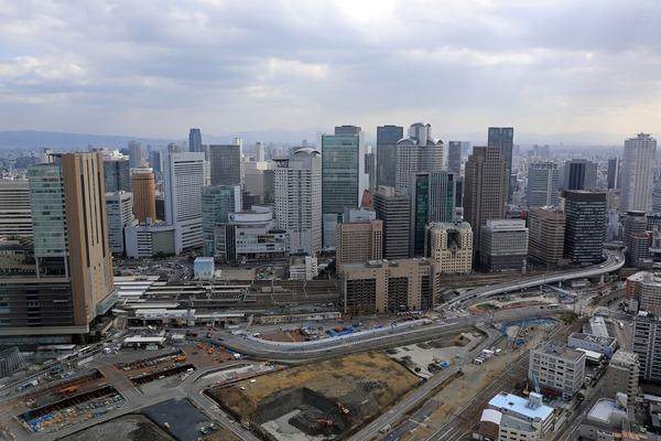 梅田の超高層ビル群