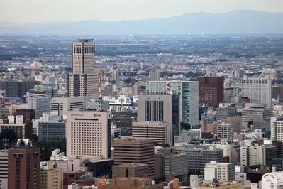 円山から札幌駅方面の眺め