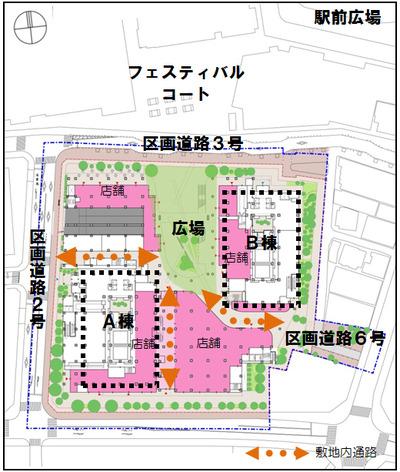 武蔵小金井駅南口第2地区市街地再開発事業 配置図