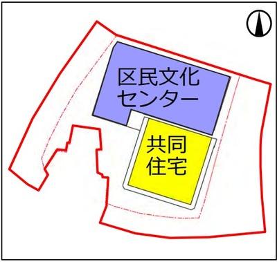 新綱島駅前地区第一種市街地再開発事業 配置図