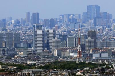 新川崎の超高層ビル群