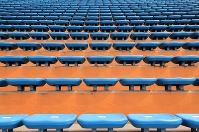 国立競技場バックスタンドの椅子