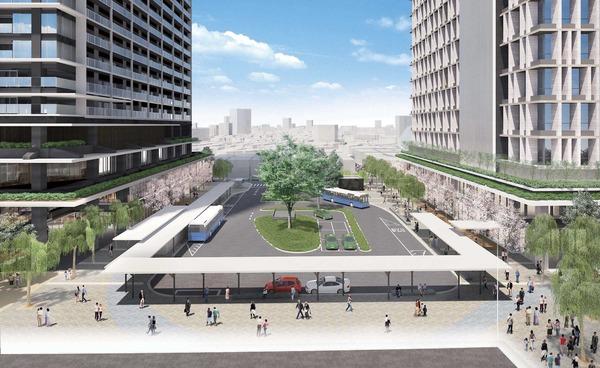 立石駅北口地区第一種市街地再開発事業 交通広場(駅前広場)