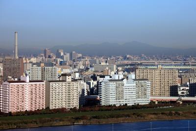 船堀駅前トキタワーから見た赤城山