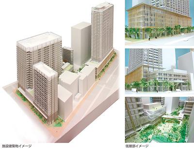 春日・後楽園駅前地区第一種市街地再開発事業のイメージ図