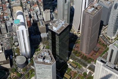新宿三井ビルディングの空撮