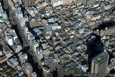 千住ザ・タワーの建設地の空撮