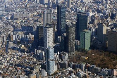 (仮称)西新宿六丁目計画の計画地の空撮