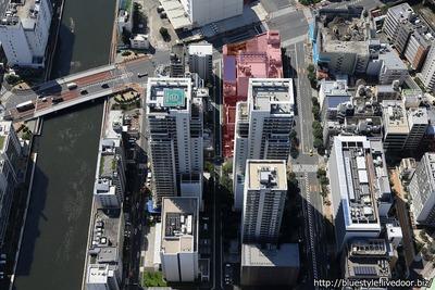 (仮称)芝浦二丁目計画の建設地の空撮