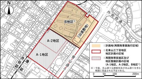 (仮称)北青山三丁目地区市街地再開発事業 位置図