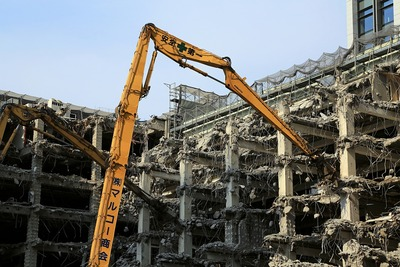公庫ビルの解体工事