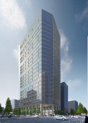 虎ノ門駅前地区第一種市街地再開発事業の完成予想図