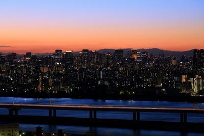 東京駅方面の夕景