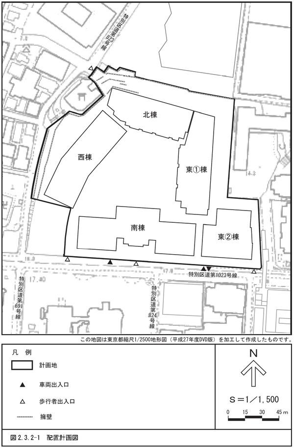 (仮称)三田一丁目計画 配置計画図