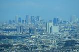 武蔵小杉超高層マンション群と新宿超高層ビル群