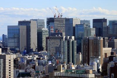 文京シビックセンターから見た大手町・丸の内方面