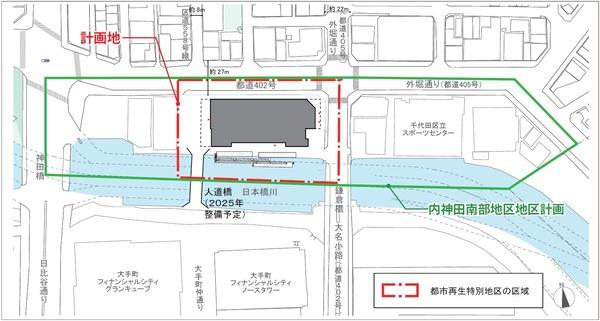 内神田一丁目地区 配置図