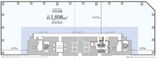 KABUTO ONE オフィス基準階平面図
