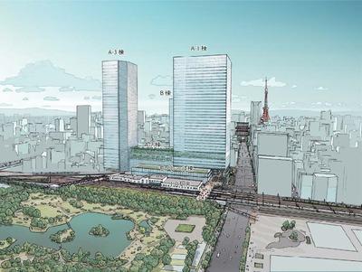 浜松町西地区再開発事業 完成予想図