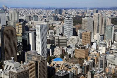東京タワーから見た虎ノ門