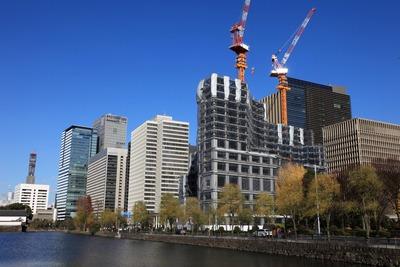 皇居前広場から見たパレスホテル建替計画