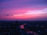 ピンクの夕焼け