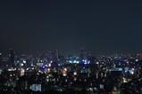 東京湾大華火後の夜景