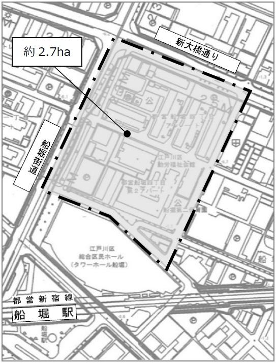 船堀四丁目地区第一種市街地再開発事業 位置図