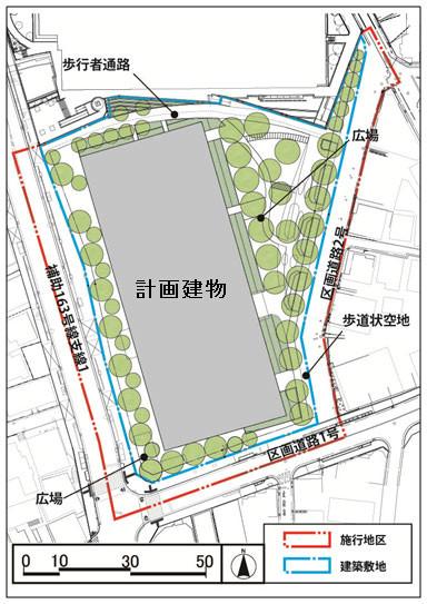 大井一丁目南第1地区第一種市街地再開発事業 配置図